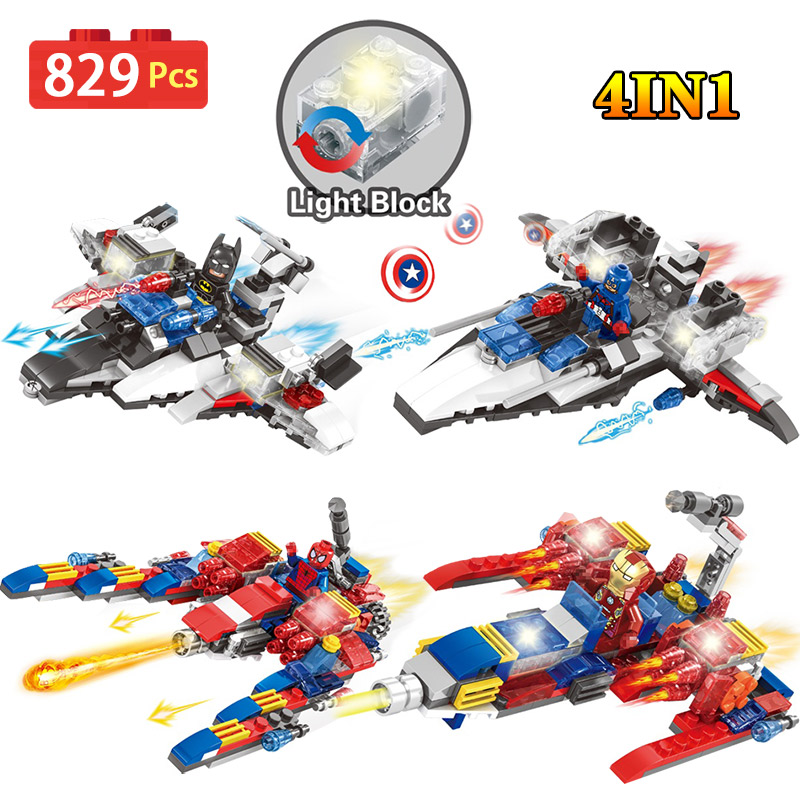New Hero Mini Action Figures Set LegoINGlys Super Hero iron Man Building Blocks ABS Plastic Bricks Toys For Children loz mini blocks batman robin ironman thor loki harley quinn poison mini super hero bricks diy building blocks toys gift