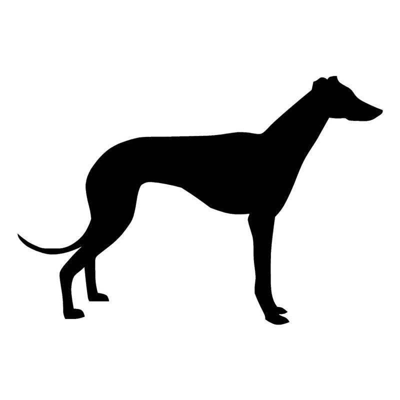 29.8*20.3CM Greyhound Dog Vinyl Decal Creative Silhouette Car Stickers Car Styling Decoration Black/Silver S1-0408