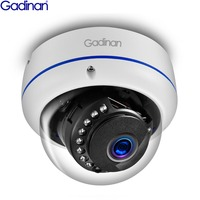 Gadinan 5MP 3MP 2MP H.265 IP Camera Sucurity Surveillance IR Night Video Vandal proof Outdoor CCTV Dome Camera DC 12V/48V PoE