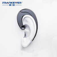 FrankEver Business V4.1 Bluetooth Headset Ear Hook Osteoacusis Mini Wireless Earphones for Phone Handsfree MIC Music
