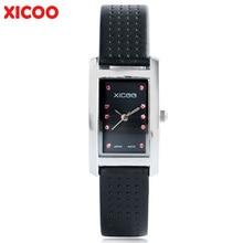 XICOO Fashion Women Watch Bracelet Crystal Genuine Leather Dress Business Casual Lady Wristwatches Birthday Gift Reloj Mujer