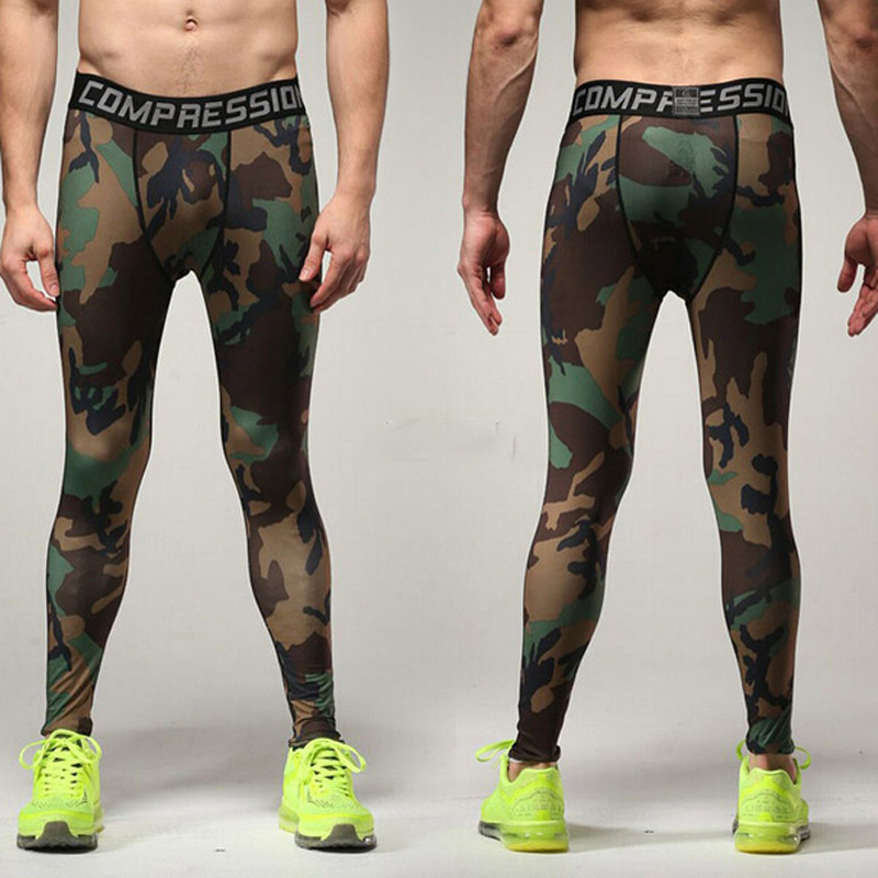 Camo Mens Gym Sport Pants Flexible Long Trousers Fitness Leggings For Men Camouflage Trainning Exercise Pants 3XL CU988039