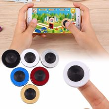 New Round Game Rocker PC Anti-Slip Controller For Touch Screen Mobile Phone Tablet Professional Gamepad Joystick Boy Kid Gift(China)