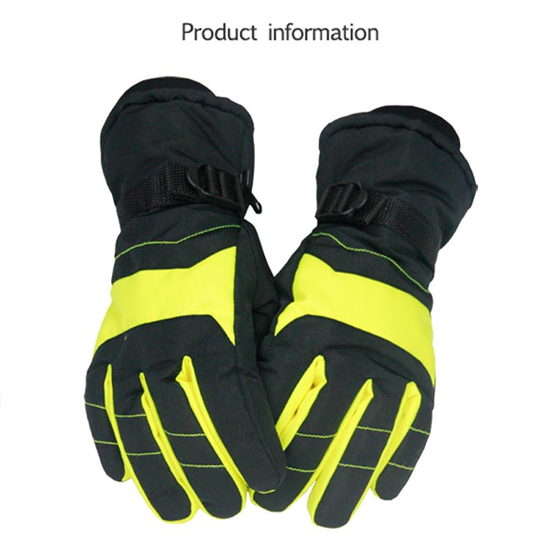 Windproof Wear-resistant Riding Skiing Gloves Mountain Skiing Snowmobile Waterproof Snow Motorcycle Gloves 2018 Newest