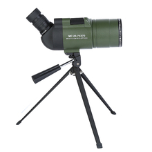 25-75x70 Spotting Scope Portable Optical BAK4 Zoom Monocular Telescope Connecting Tripod for Outdoor Camping Bird-watching Tools aomekie 25 75x70 mak zoom spotting scope with tripod for birdwatching waterproof long range target shooting monocular telescope