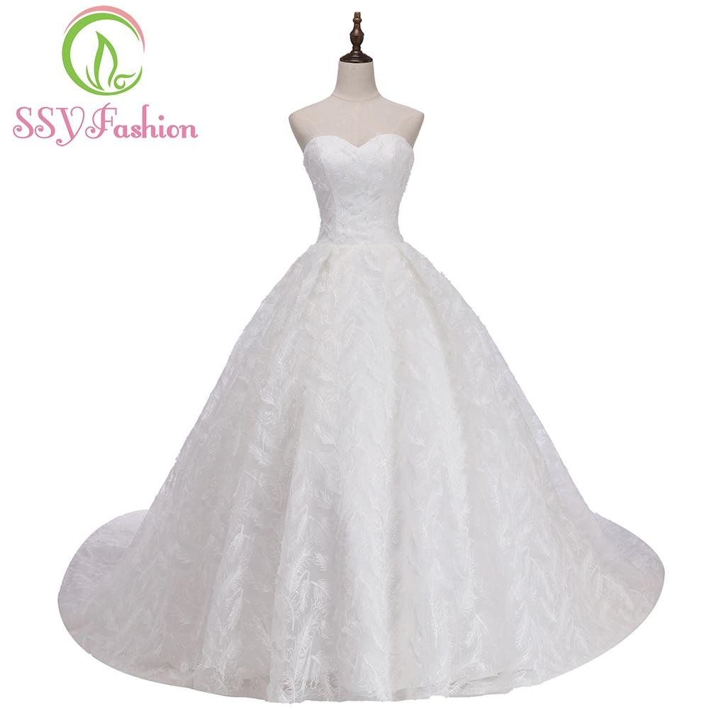 Ssyfashion 2017 new luxury wedding dress high end the for High end wedding dress