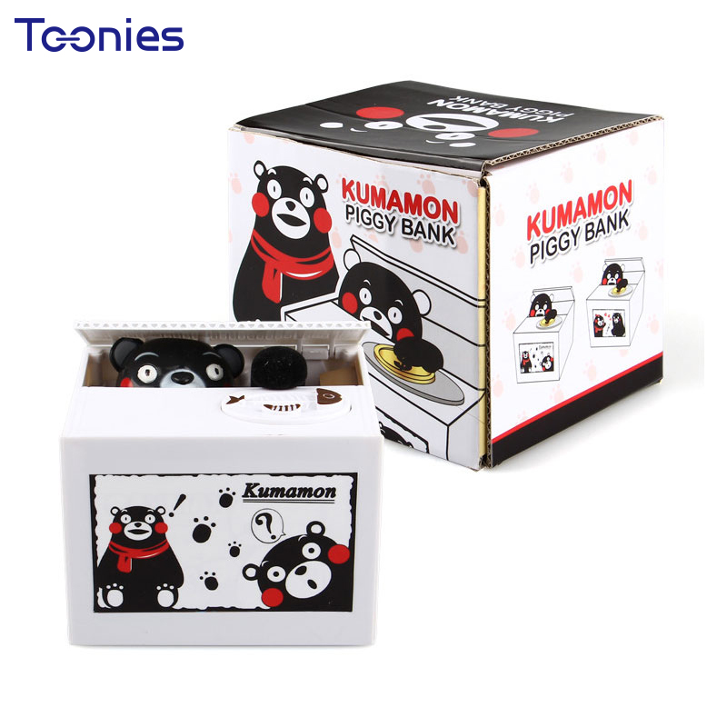 Christmas Gifts Cion Piggy Bank Bear Stealing Cat Eat Money Box Childrens Dolls Cheerful