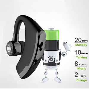 Image 2 - M&J V9 Handsfree Business Bluetooth Headphone With Mic Voice Control Wireless Bluetooth Headset For Drive Noise Cancelling