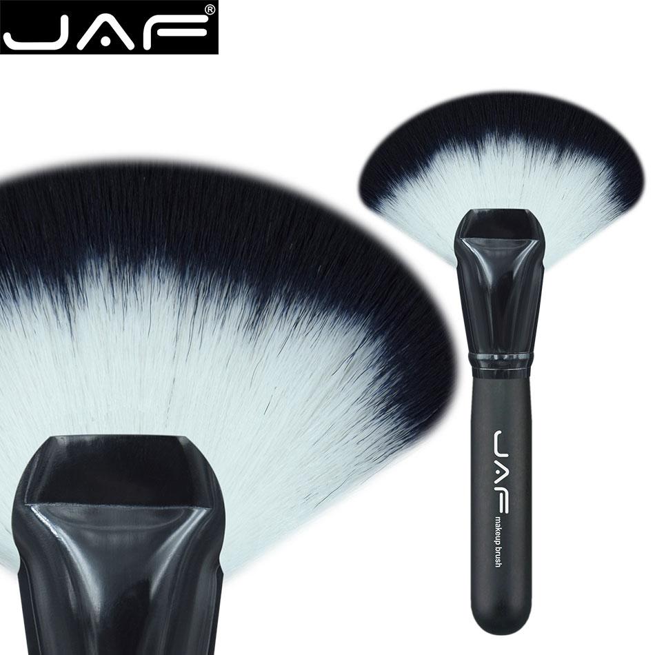 JAF Soft big Fan blush Blusher Foundation Makeup Tool Powder Highlighter Contour Brushes Cosmetic tools Synthetic Hair 16SWF artdeco blusher 07 цвет 07 salmon blush