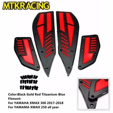 MTCRACING Motrocycle Pedals Front And Rear Foot Pegs Footest Step For Yamaha XMAX 300 2017 2018 X-MAX 250 300 new motorcycle foot pegs for yamaha xmax 300 2017 2018 x max 250 300 footrest step pedal foot plate blue gold black red titanium