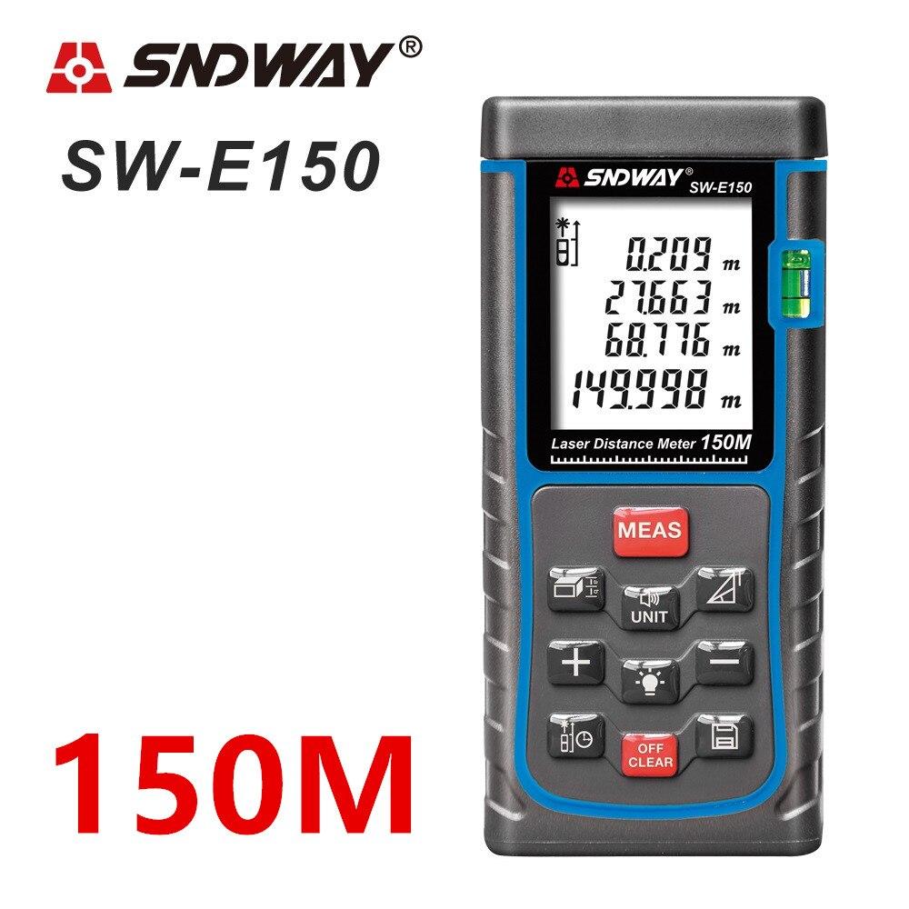 SNDWAY Laser distance meter 150M 100M 80M 60M 50M Laser rangefinder trena Laser tape range finder build measure device ruler цена