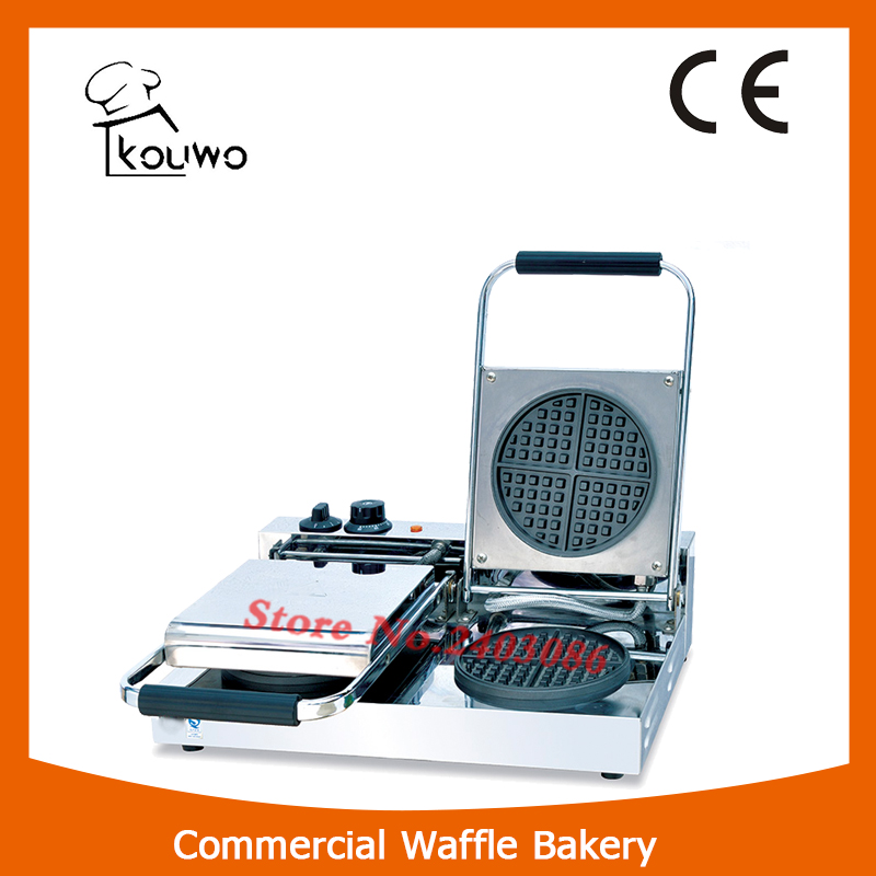 KW-2C.2  stainless steel round shape  waffle maker machine for snack equipment fast food leisure fast food equipment stainless steel gas fryer 3l spanish churro maker machine