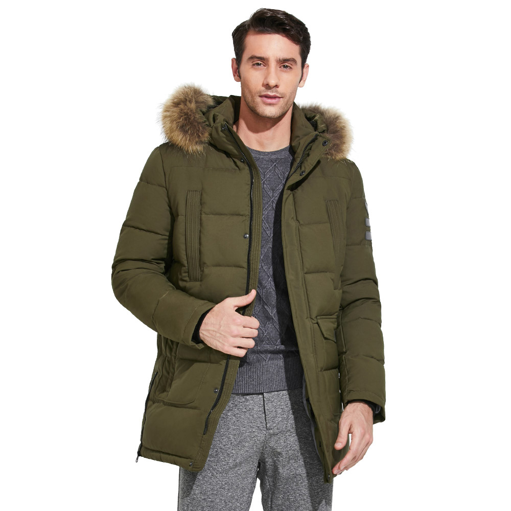 ICEbear 2018 High-quality Fashionable Winter Men's Jacket With Raccoon Fur Thick Warm Coat for Rest Excellent Parka 17MD901D lwela 2017 new large raccoon fur collar parka winter jacket women korean fashion corduroy outwear thick warm hooded coat