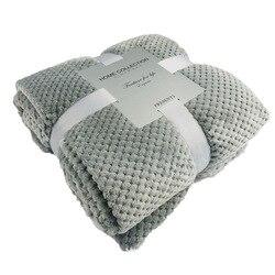 Abacaxi xadrez flanela lança cobertor waffle texturizado lance tapete macio quente para cama sofá praia 2019 novo