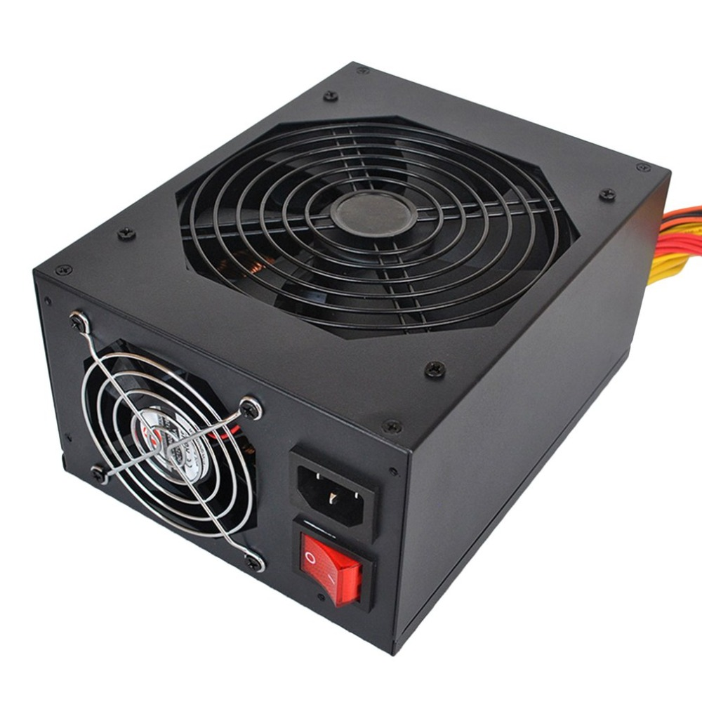 2800W Mining Power Supply Support 12/13GPU PFC Active High Efficiency Computer Power Sup ...