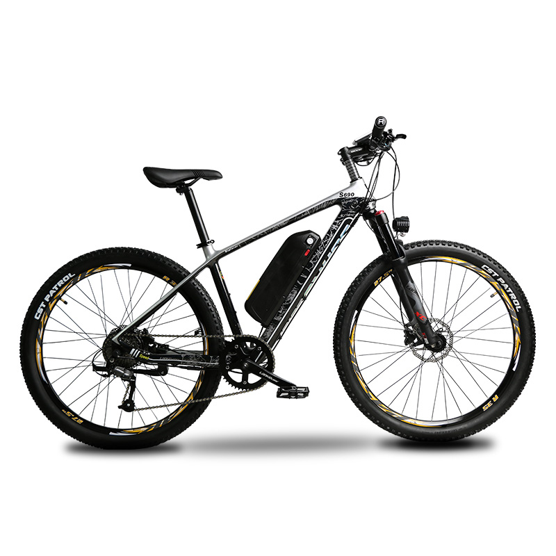 S690 Torque-Pedal System Electric Mountain Bike Carbon Fiber e-bike 500W 48V 16ah Lithium Battery 9 Speeds Hydraulic Disc Brakes