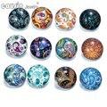 12 pçs/lote Mixed estilos Exóticos padrão 18mm botão de pressão Para O botão de vidro DIY encantos pulseira de Vidro