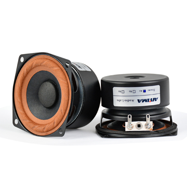AIYIMA 2Pcs 2.5inch 15W Audio Portable Speakers 4Ohm 8Ohm  Full Range Hifi Bass Mini Speaker DIY For Home Theater