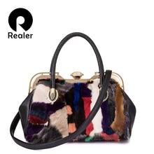 Realer women handbag genuine leather Top-handle bag for ladies Real Me