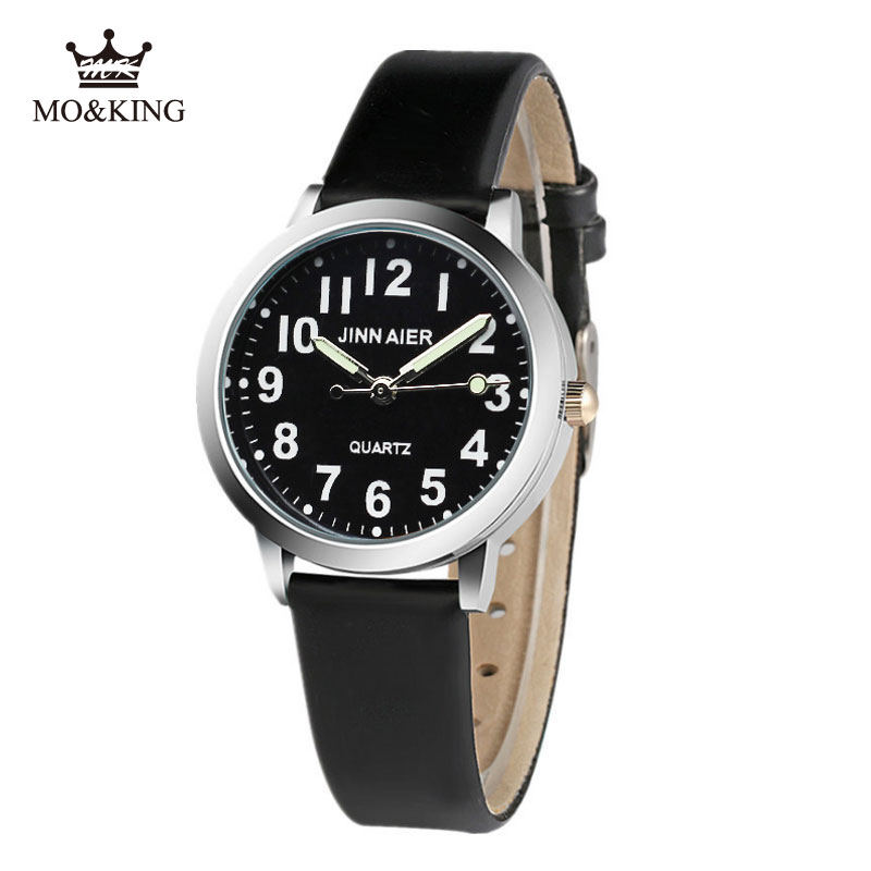 Luxury New Unique Black Number Children's Boys Girls Kids Quartz Wrist Watch Clock Gifts Bracelet Kittyed Synoked Relojes Mk Dw