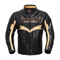 Free Shipping 1pcs Autumn Winter Men S Racing PU Jacket Motorcycle Riding Coat Textile Mesh With