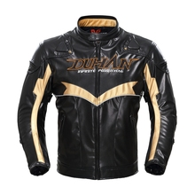 Free shipping 1pcs Autumn Winter Men's Racing PU Jacket Motorcycle Riding Coat Textile Mesh with 5pcs pads