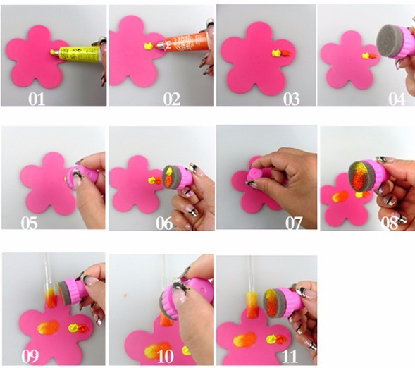 kads губка ногтей набор для ногтей штамп инструмент, ногтей краска трафарет для ногтей инструмент печати