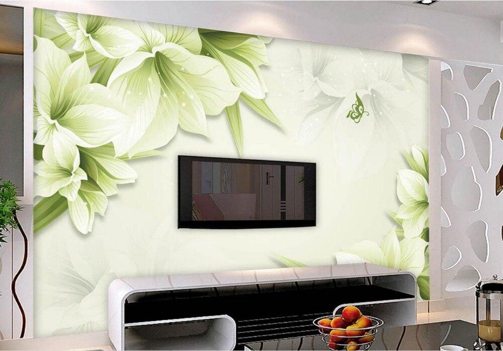Behang In Badkamer : 3d badkamer behang badkamer 3d behang groene lelie achtergrond