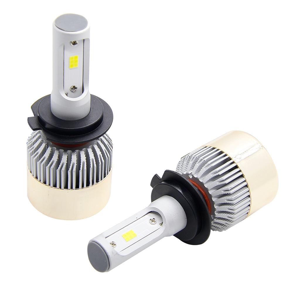 72W 100W H11 H4 H7 H1 COB LED Car Headlight Bulb Hi-Lo Beam 8000LM 6500K Fog Light for toyota mercedes volvo audi 72 1 100