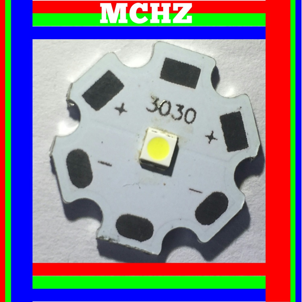 3030 2W teopek 50pcs Aluminum PCB Board 20mm For Cree XPE XP E XTE in Light Beads from Lights Lighting