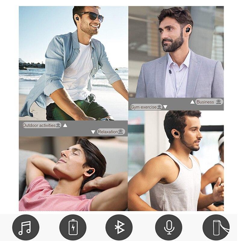 Image 2 - Mini T1 TWS V5.0 Bluetooth Earphone 3D True Wireless Stereo Earbuds With Mic Portable HiFi Deep Bass Sound Cordless Dual HeadsetBluetooth Earphones & Headphones   -