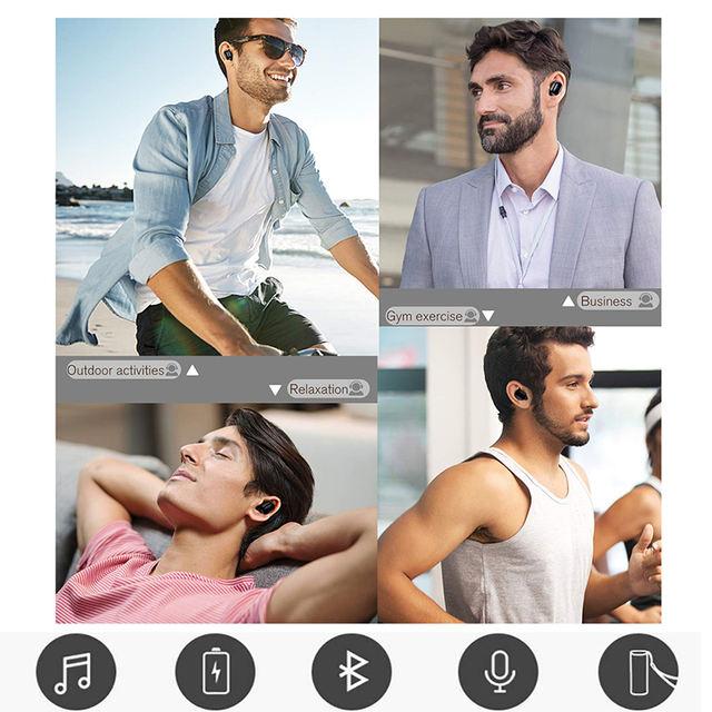 Bluetooth 5.0 Wireless Mini Earphones with Portable Case