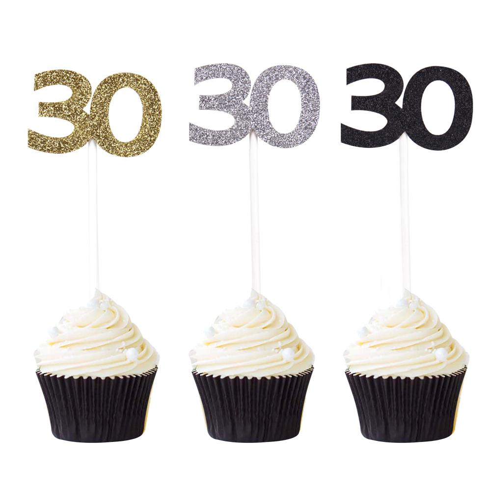 Celebration Number Cake Topper Blue Acrylic choose from numbers 41 to 50