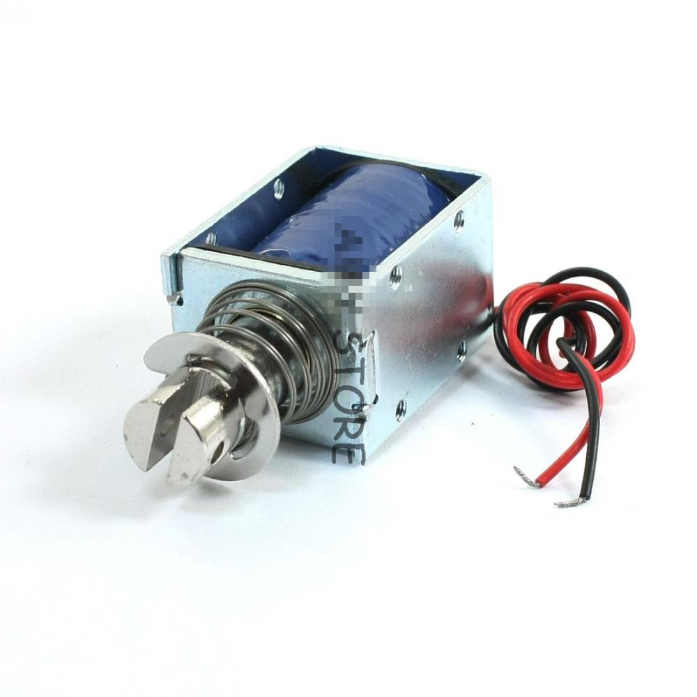 DC 24V  0.96A  23W / DC 12V 2.15A 25.8W 10mm Push Pull Intermittent Electromagnet Solenoid DS-1240S 24v pull hold release 10mm stroke 6 3kg force electromagnet solenoid actuator