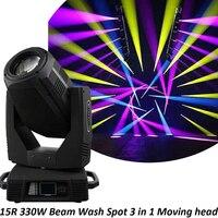 Free Shipping Sharpy Ultra YODN 330W 15R Beam Wash Spot 3in1 Effects Lamp Moving Head Spot Stage Equipment DJ Chrismas Lightings