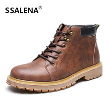 Men Fashion Vintage Style Boots Male High Motorcycle Casual Shoes Men Comfortable Russian Style Lace-Up Shoes AA51591