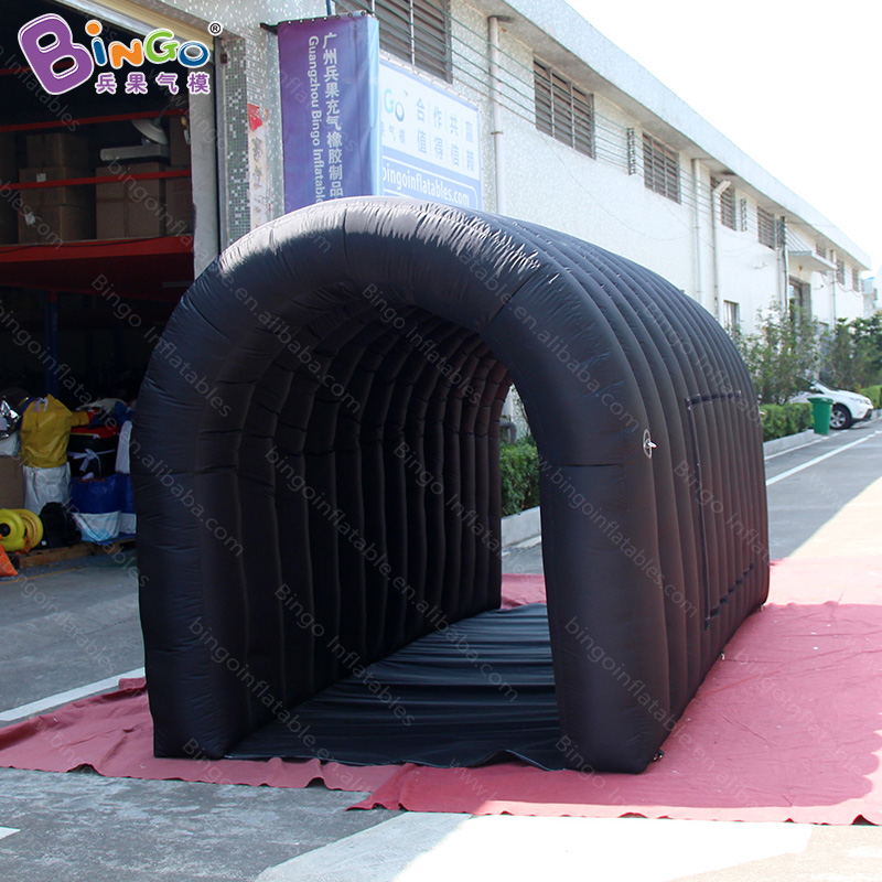 Personalized 4x2x2.15 Meters Inflatable Black Tunnel / Inflatable Kids Tunnel / Inflatable Tunnel Tent Toy Tents