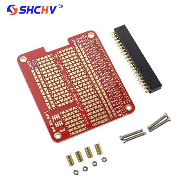 DIY Proto HAT Shield Extension Board for Raspberry Pi 3 and Raspberry Pi 3 Model B+ Plus Red RPI GPIO Board  for