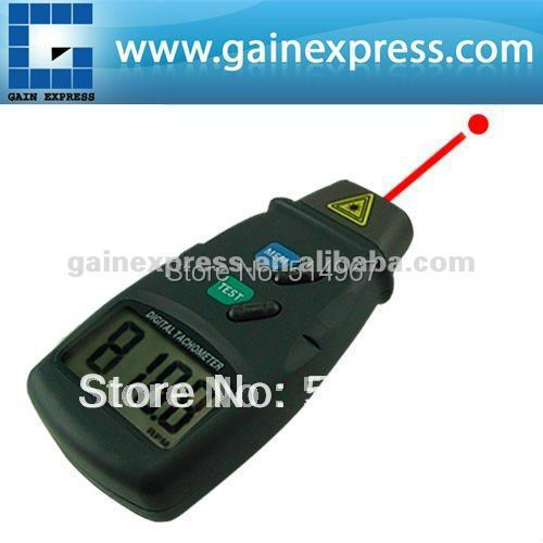 Portable Digital LED Laser Photo Non Contact Tach Tachometer 2.5 to 99,999 RPM Rotational Speed Test Range  цены