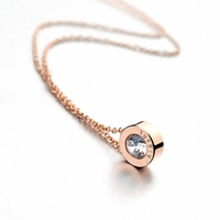 Italina Rigant 18K Real Rose Gold Plated Crystal Pendant Necklace Made With Swarovski Crystal Stellux DropShipp