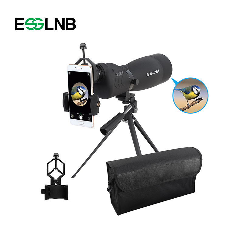 купить Hunting Telescope 20-75x70 Straight Spotting Scope With Tripod Portable Travel Camping Tools Scope Monocular Telescope по цене 4680.27 рублей