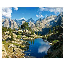 Diy Canvas Painting For Home Decoration,Painting By Number 40x50cm,Mountain Lake Paint Kits