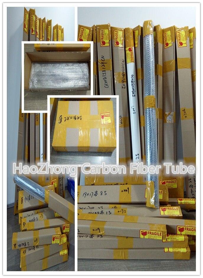 3K Carbon Fiber Tube 26mm 27mm 28mm 29mm 30mm x L 500mm Roll Wrapped Rod