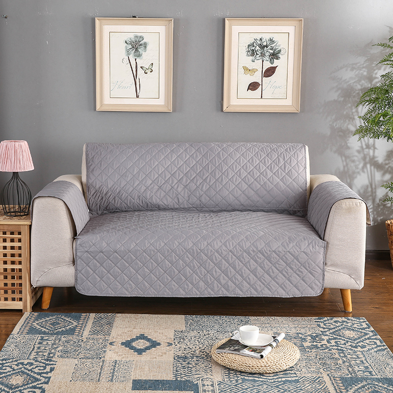 Solid Color Waterproof Sofa Cover