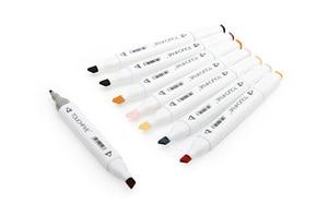 Image 4 - Touchfive 30/40/60/80/168 с двухголовой живопись на холсте маркером в наборе алкоголя краски манга стиле «граффити» из мультфильма; Эскиз маркер для рисования набор