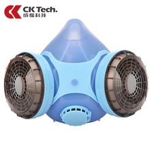 CK Tech Brand Dual Cartridge Gas Mask Gas Filter Chemical Respirator Anti Dust Oil-smoks Air Pollution Mask Free Shipping 402