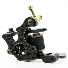 Top Pro Handmade Copper Tattoo Machine Gun 10 Wrap Coils Set Liner For Tattoo Supply CTM