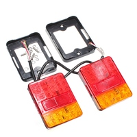 Brand New Auto Parts A Pair 12V 30 LEDs Taillight Truck Lamp Rear Tail Trailer Lights