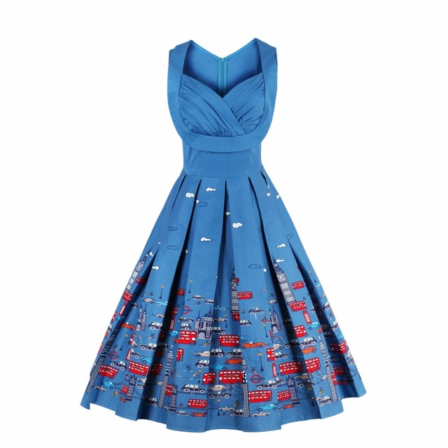 6b6ca509c Fashion Women Summer Dress Retro 1950s 60s Vintage Dresses Vestidos Audrey  Hepburn Plus Size Rockabilly Sexy Swing Party Dresses
