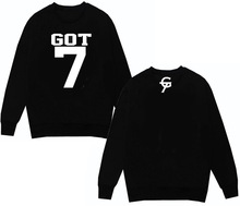 kpop GOT7 concert should aid long-sleeved round neck dress thin section sweater Tops dress exo GOT 7 hoody hoodie bts Tees k-pop